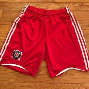 Adidas Chicago Fire Soccer shorts (early 2000s)